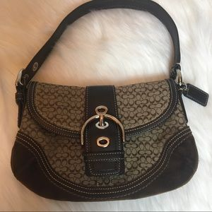 Coach Brown Signature Soho Flap Shoulder Bag